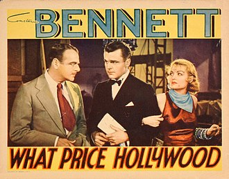 Lowell Sherman - Lowell Sherman (left), Neil Hamilton and Constance Bennett in What Price Hollywood? (1932)