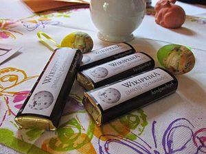 Wikipedia-Schokolade von Wikimedia.JPG