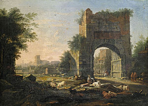 Willem van Bemmel - Italianate landscape, 1667