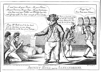 John Bull - An earlier John Bull in which he is depicted as an actual humanoid bull.