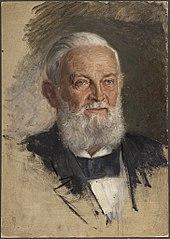 Ohne Titel (Portraitstudie Franz Eilhard Schulze, verso: Portraitstudie v. Riepenhausen)