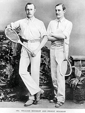 William Renshaw - William (L) and Ernest (R) Renshaw