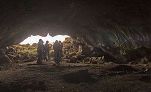 Wilson Butte Cave - Wilson Butte Cave appears in a tumulus