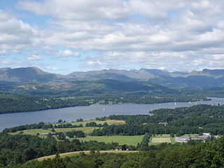 Windermere largest natural lake in England