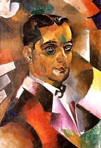 Vladimir Baranov-Rossine - Self-Portrait, oil on canvas, 75 x 50 cm. Private collection, Paris.
