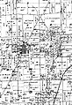 Woodburn area excerpt from the Bunker Hill Township map within an 1875 atlas of Macoupin County townships.JPG