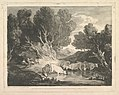 Wooded Landscape with Figures and Cows at a Watering Place (The Watering Place) MET DP819248.jpg