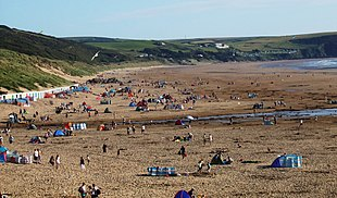 Woolacombe beach, viewed from the north