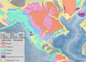 Geology of North America - This article discusses the regional geology of the geographic region of North America.