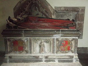 St Andrew's Church, Wroxeter - Image: Wroxeter St Andrews Tomb of Thomas Bromley and Isabel Lyster