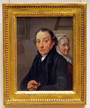 Warnaar Horstink - Portrait of Warnaar Horstink by Wybrand Hendriks in the Teylers Eerste Schilderijenzaal