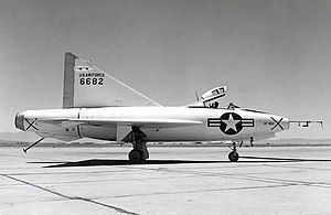 Convair XF-92 - The XF-92A at Edwards Air Force Base, 1952