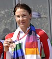 XIX Commonwealth Games-2010 Delhi Cycling Road 29km Individual Time Trial (Women), Shaw Julia of England (Bronze) (cropped).jpg