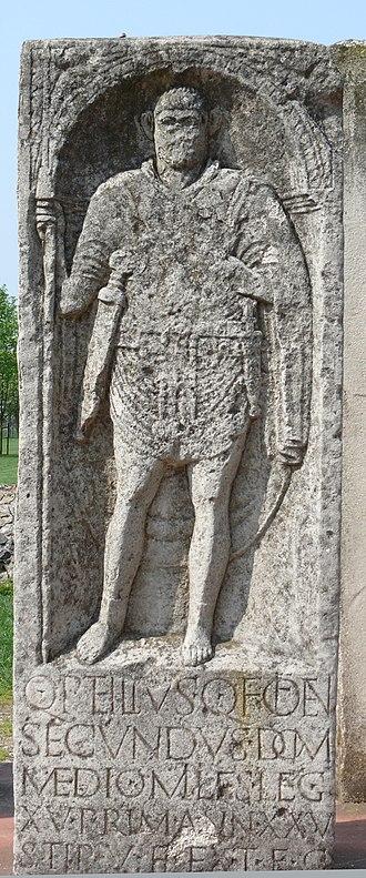 Petillia (gens) - Monument of Quintus Petilius Secundus, a soldier stationed in Germania Inferior during the first century.