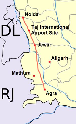 Yamuna Expressway - Yamuna Expressway within the state of Uttar Pradesh
