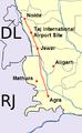 Yamuna Expressway Detailed Map.png