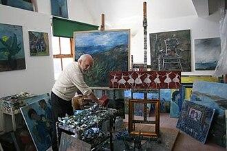 Yankel Feather - Image: Yankel in his studio