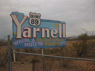 Arizona State Route 89 - Yarnell, Arizona, along SR 89