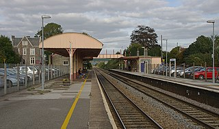 Yatton railway station Railway station near Bristol, England
