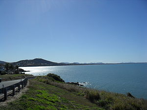 Capricorn Coast - Looking north from Wreck Point across Yeppoon to the Byfield Ranges