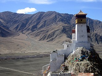 Yarlung Valley - The restored Yungbu Lakang Palace.