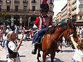 Zaragoza - Turistas y Figurantes vestidos de soldados de la Guerra de la Independencia 01.jpg