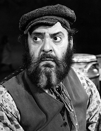Fiddler on the Roof - Zero Mostel as Tevye in the original Broadway production, 1964