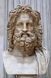Busto de Zeus hallado en Otricoli (Sala Rotonda, Museo Pío-Clementino, Vaticano).