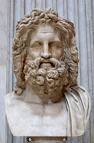 Greek mythology - Bust of Zeus, found in Otricoli, Italy (now in Sala Rotonda, Museo Pio-Clementino, Vatican).