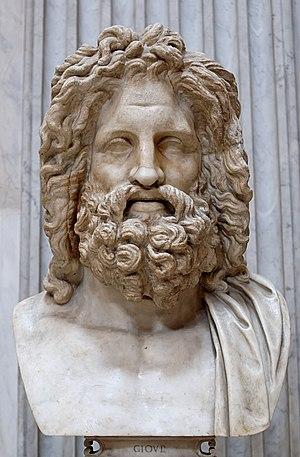 """So-called """"Zeus of Otricoli"""". Marble, Roman co..."""