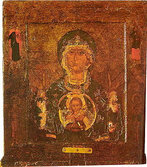 Our Lady of the Sign (Novgorod) - Image: Znamenie ikona Novgorod