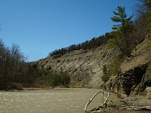Zoar Valley - Steep cliffs of shale along the Cattaraugus Creek's Main Branch.