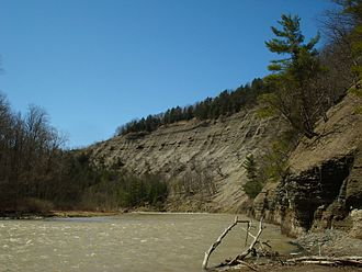 Zoar Valley - Steep cliffs of shale along the Cattaraugus Creek's Main Branch.