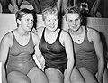 Zwemmen Duitsland tegen Nederland in Wuppertal, vlnr Haase (Dld), Aty Voorb, Bestanddeelnr 909-3741.jpg