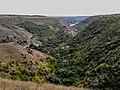 """сквозь Циповский каньон"", видно село Попенки, на том берегу Днестра - panoramio.jpg"