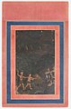 """Bhil Couple Hunting Deer at Night"", Folio from the Davis Album MET sf30-95-174-19a.jpg"