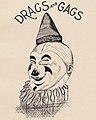 """DRAGS AND GAGS"" clown art detail, Virginia Tech Bugle 1899 (page 153 crop).jpg"