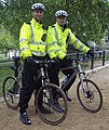 'London Policemen' on duty at 'St James Park' in London. (cropped).jpg