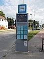 'Széchenyi István Egyetem' bus stop with timetables and information display, 2018 Győr.jpg