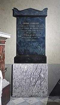 (Toulouse) Tombe de Pierre Goudouli dans la basilique de la Daurade.jpg