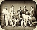 Állnak balról- Wechselmann Ignác, Unger Emil, Faváry János, Neÿ Béla, Koch Henrik ülnek- Anton Baumgarten, Ybl Miklós, Wéber Antal építészek. A felvétel 1880 körül készült. Fortepan 96119.jpg