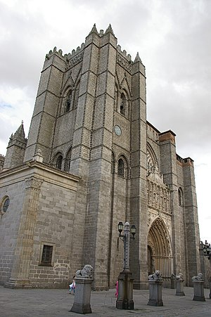 Ávila, Spain - Main view of the Cathedral of Ávila