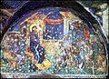 Προφήτης Ηλίας Θεσσαλονίκης. Η ίαση των τυφλών, χωλών και άλλων. Τοιχογραφία γύρω στα 1360-1380.jpg