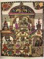 Четырёхлистовый лубок «Трапеза благочестивых и нечестивых» (XVIII век)