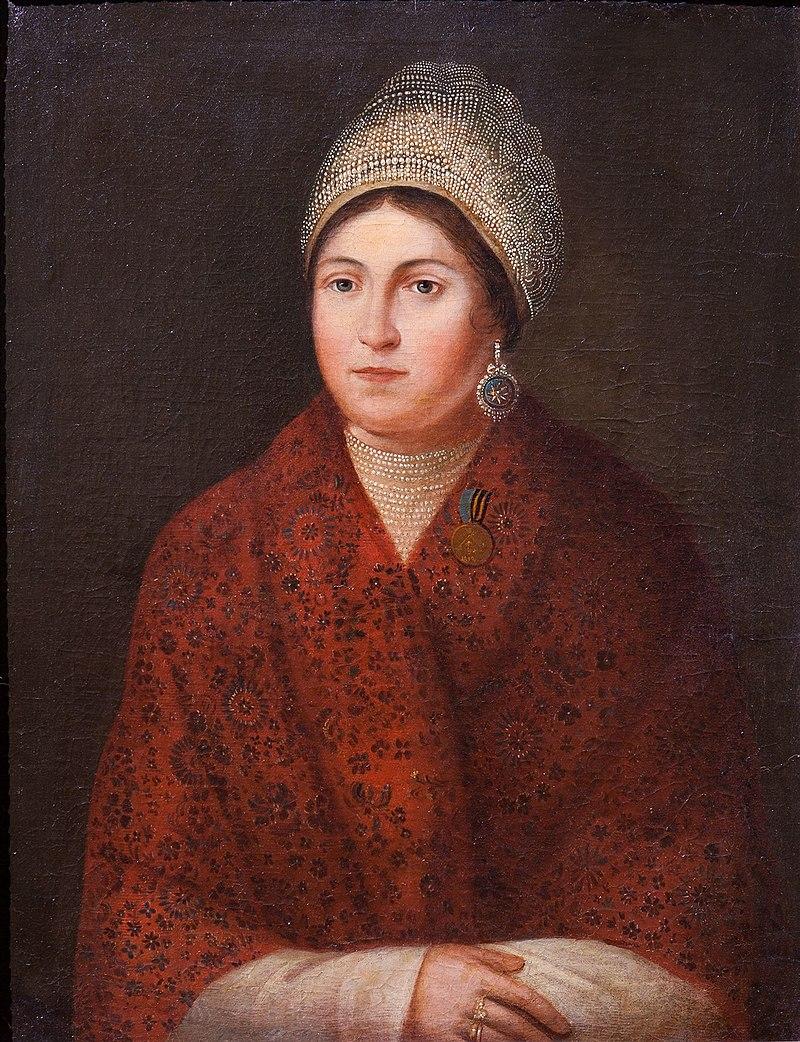 А. Смирнов. «Портрет Василисы Кожиной» (1813)