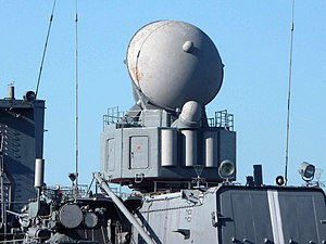 РЛС 3Р41 «Волна» на ракетном крейсере «Варяг», Владивосток, 2011-07-05.jpg