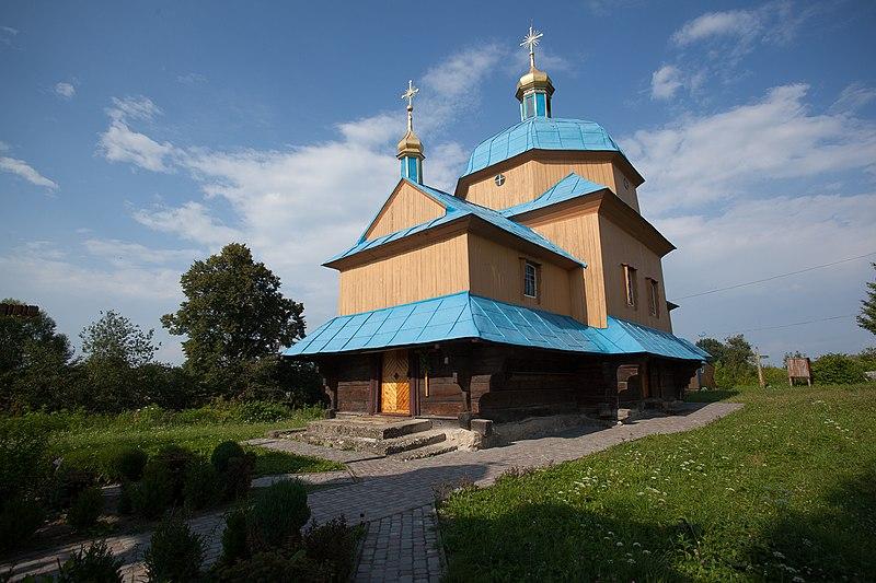 Церква Собору Пресвятої Богородиці у с. Великополе. Автор фото — Klymenkoy (2013 рік, ліцензія CC-BY-SA-4.0)