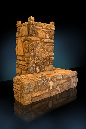 The Temple Institute - Model of the Sacrificial Altar from the Temple Institute Museum, by Assaf Kidron