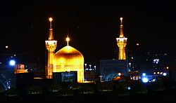 Imam Reza's shrine in Mashhad, the capital of Khorasan-e Razavi