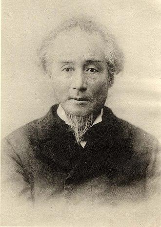 Katsu Kaishū - Katsu Kaishū (as Katsu Yasuyoshi) in his later years